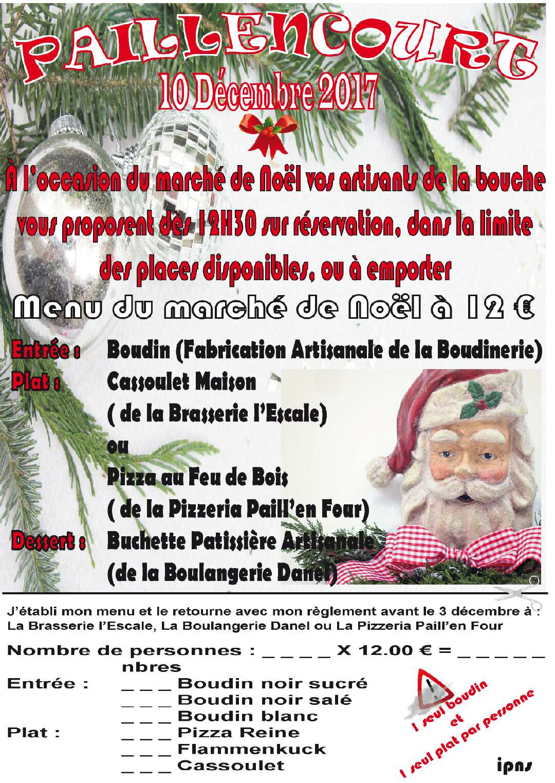 Menu De Noel A Emporter.Menu Du Marche De Noel Le 10 Decembre 2017 Commune De