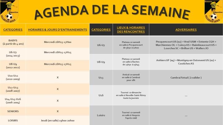 AGENDA DE LA SEMAINE(7)