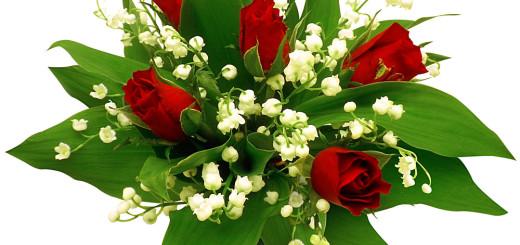 Bouquet-de-10-brins-de-muguet-et-5-roses-